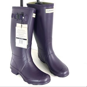 Hunter Purple Rain Boots Size 8